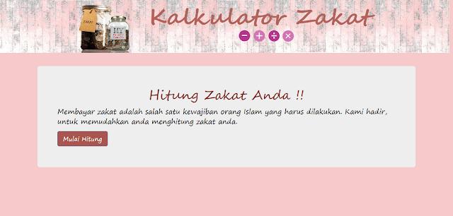 Source Code PHP Kalkulator Zakat