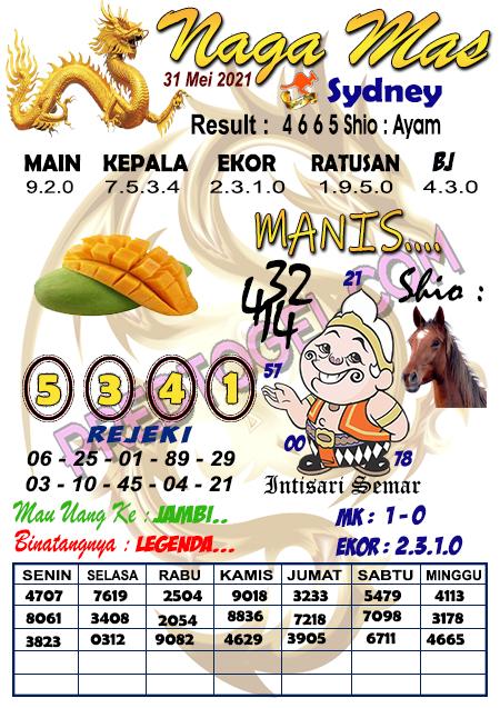 Syair Nagamas Sdy Senin 31 Mei 2021