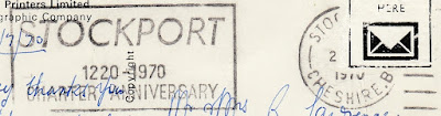 Stockport's 750th Charter Anniversary postmark cancellation