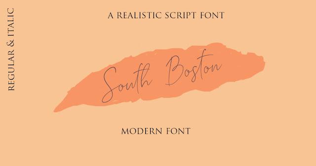 خطوط انجليزية من نوع اسكريبت