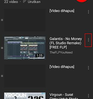 Hapus video tonton nanti youtube android