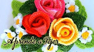 Bouquet de Rosas Tejidas a Crochet / Tutorial en Español