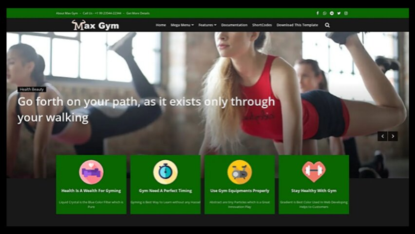 Max Gym Blogger Templates is a  Health & Fitness with newly designed free blogger templates