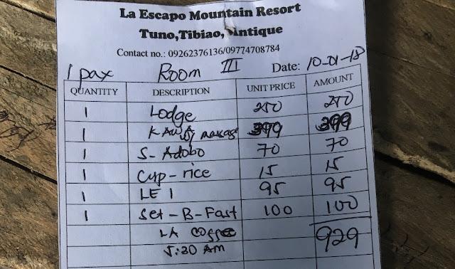 Kawa Hot Bath Expenses