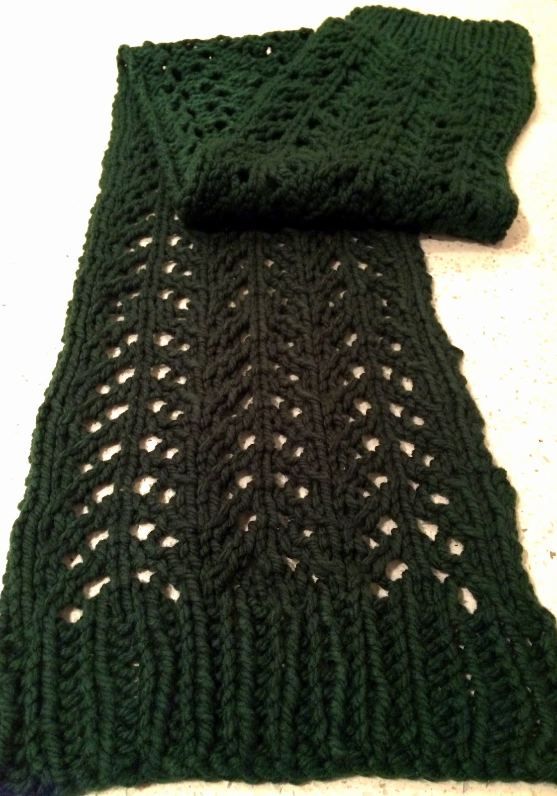 The Createry Shop: Chevron Pattern Scarf - Exploring Knitting Lace ...