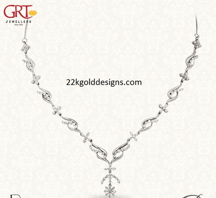 GRT Platinum Necklace in Simple Design