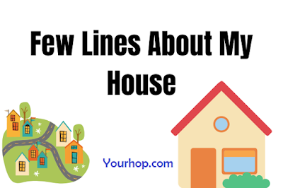 Short few lines essay on my house for class 1,2,3,4,5