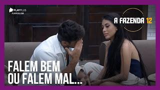 A Fazenda 12 - Lucas chora e perde o controle - Mirella e Mariano conversam sobre Luiza