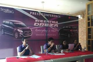 Konferensi pers Suzuki Ertiga Dreza meluncur di Makassar