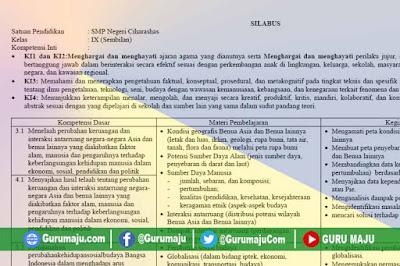 Silabus IPS Terpadu Kelas 9 Kurikulum 2013 Revisi Terbaru
