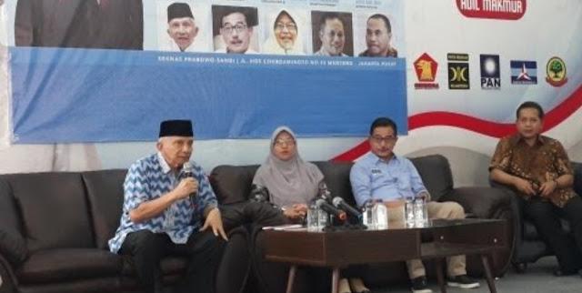 Makin Ngaur, Amien Rais Sebut Malaikat Ikut Mendoakan Jokowi Kalah