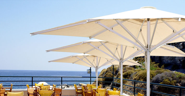 parasoles aluminio serie élite