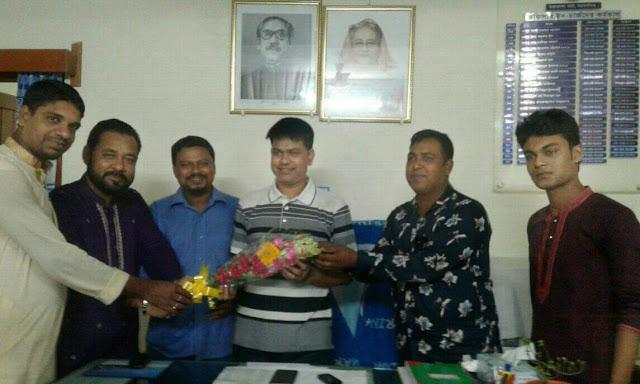 """জাতীয় সাংবাদিক ঐক্য ফোরাম"""" ময়মনসিংহ জেলা কমিটির অনুলিপি তারাকান্দা থানার (ওসি) মহোদয় বরাবর প্রদান"""