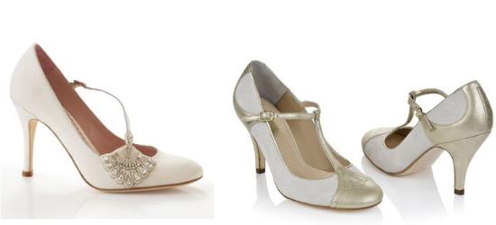 Vintage bridal shoes, emmyshoes, Rachel Simpson