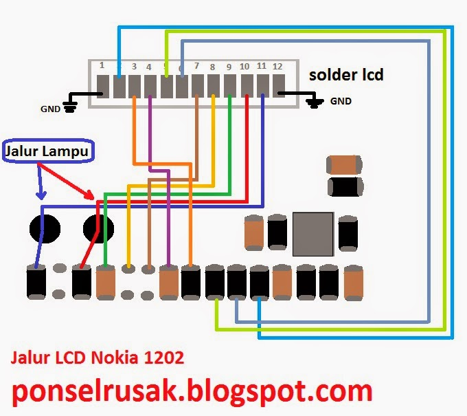 How to jumper the lcd connector by using image stripe scheme.