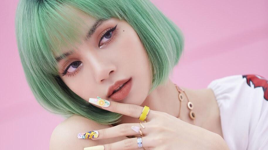 Lisa, Green Hair, BLACKPINK, Ice Cream, 4K, #3.2729