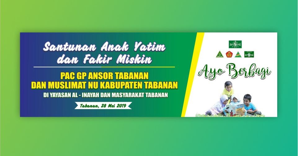 Download Banner Santunan Anak Yatim Format CDR 2019
