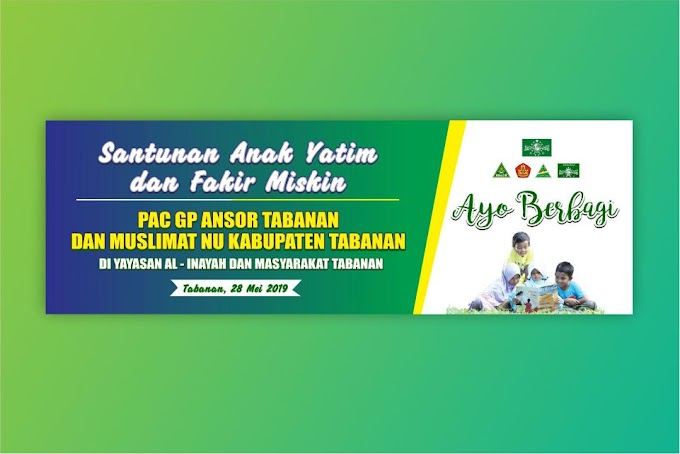 Download Banner Santunan Anak Yatim Format CDR 2019