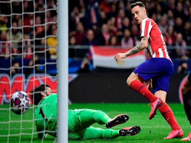 أتلتيكو مدريد يتقدم على ليفربول بهدف نظيف في الشوط الأول