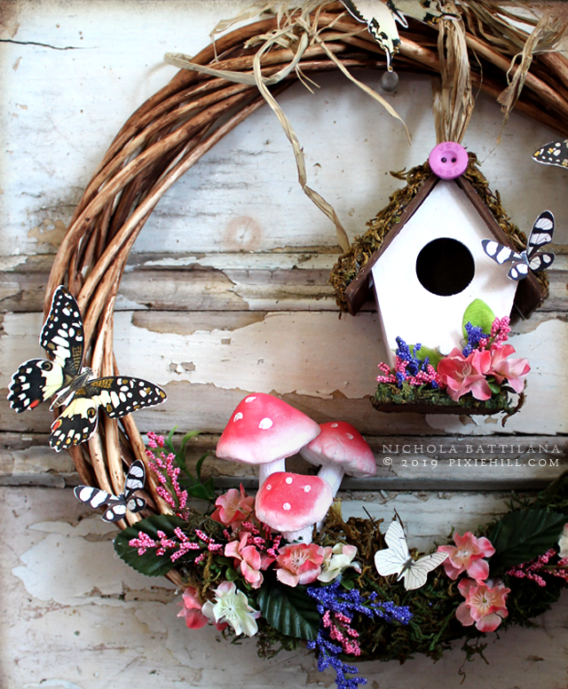 Dollar Store Spring Wreath - blog.pixiehill.com