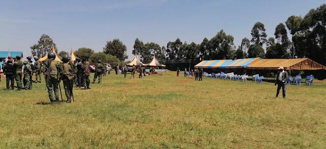 Police officers in Nyamira