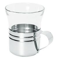 Pahar pentru ceai 'Duralex' sticla cu suport din otel inoxidabil  - Ø 75x(H)90 mm 20 cl