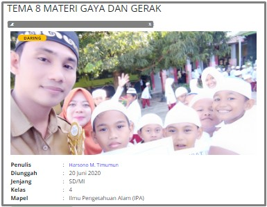 Download RPP Daring IPA Kelas 4 SD