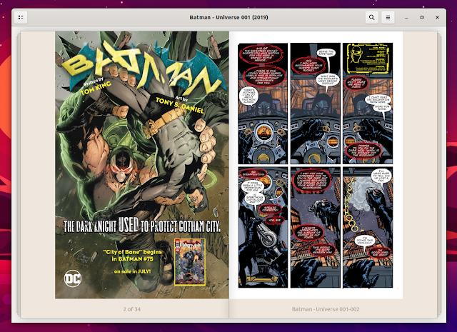 Foliate comic book