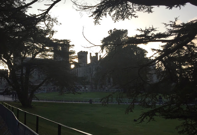 Alton Towers Castle at sunset