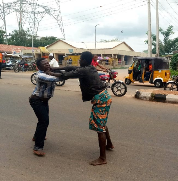 Lokoja Pastor Attempts To Heal A Mad Man But Gets Beaten (Photos)