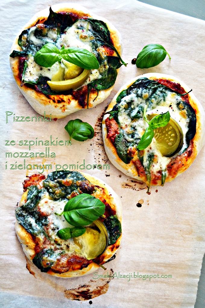 Zielono mi...czyli pizza ze szpinakiem i zielonym pomidorem!