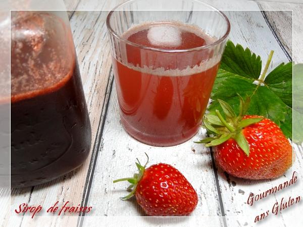 Sirop de fraises maison, au sucre de canne complet