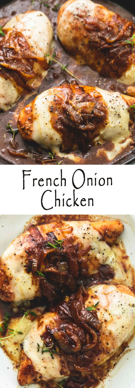 Recipe French Onion Chicken #chicken #chickenrecipes