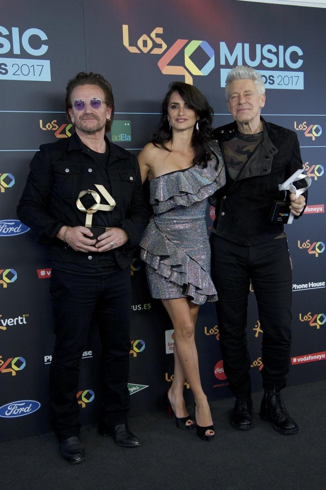 Hot and Sexy Penélope Cruz at 2017 Principales Music Awards in Madrid