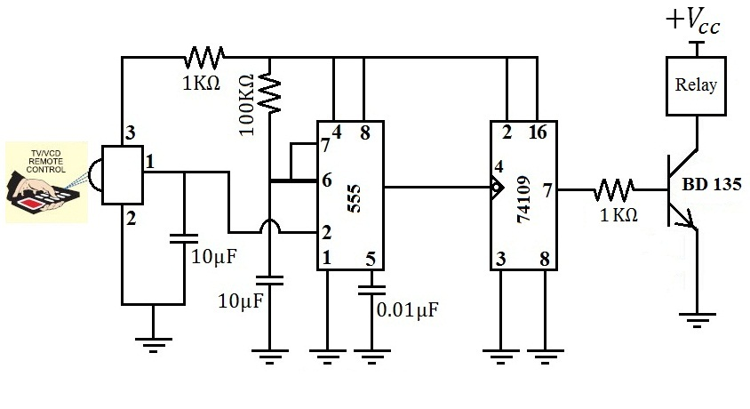 hobby in electronics  remote control regulated ceiling fan circuit diagram