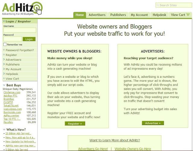 Earn Money With AdHitz.Com 1