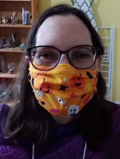 Hybrid, Halloween themed mask worn by the author.