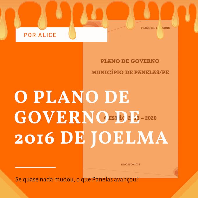 O ANTIGO PLANO DE GOVERNO DE JOELMA
