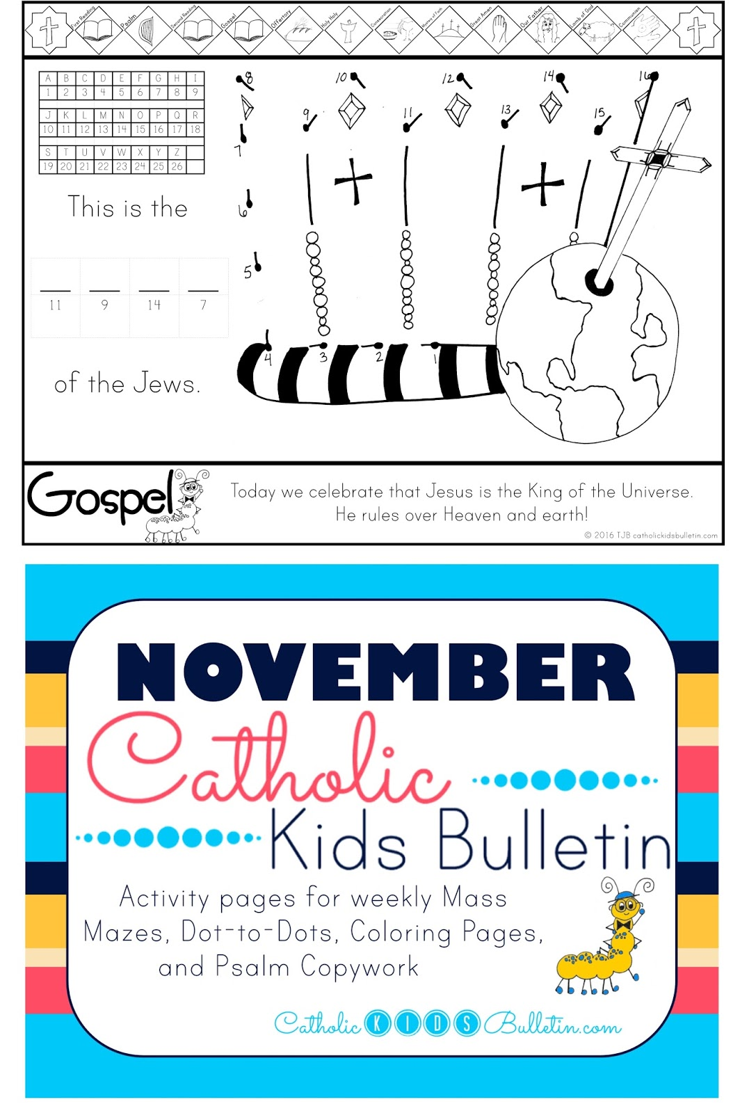 Catholic Kids Bulletin: Weekly Mass Prep for Kids! Luke 23:35-43