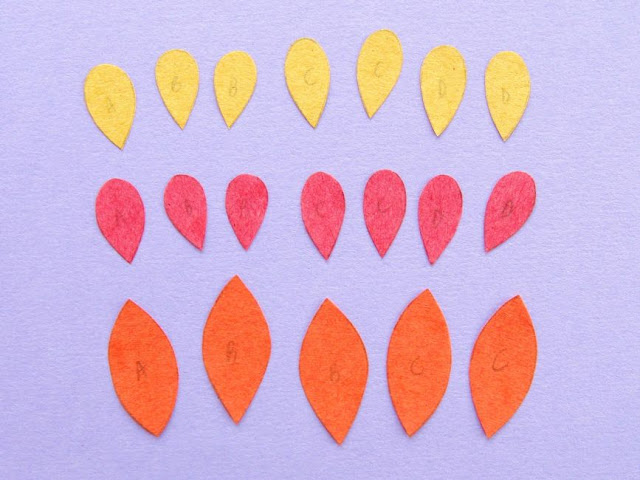 cutting out paper leaves