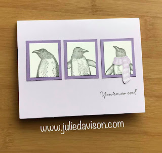 Stampin' Up! Playful Penguin Pop-Up Card ~ 2019 Holiday Catalog ~ www.juliedavison.com