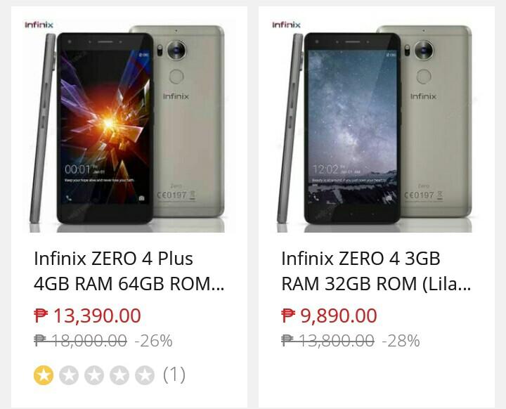 Infinix Zero 4, Zero 4 Plus Now at Lower Prices, Savings of Over 2K