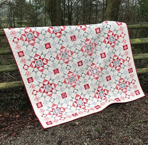 Scandi Quilt designed by Lynne Goldsworthy of LilysQuilts using the Scandi 2019 collection from Makower Uk