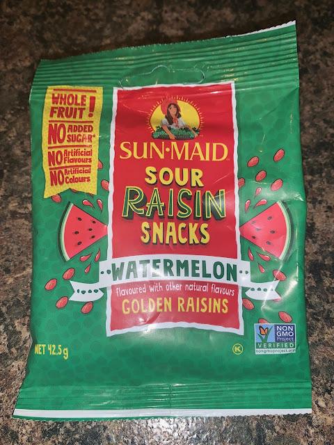Sun Maid Sour Raisin Snacks Watermelon Flavoured Golden Raisins