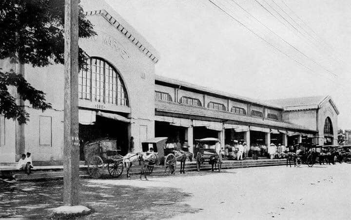 Facade of Paco Public Market facing Angel Linao Street. It is one of the few surviving pre-war markets in Manila — in Paco, Manila.