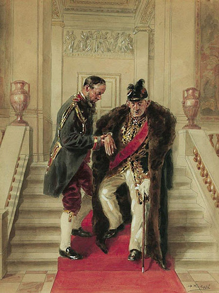 Маковский Владимир Егорович - На парадной лестнице. 1919