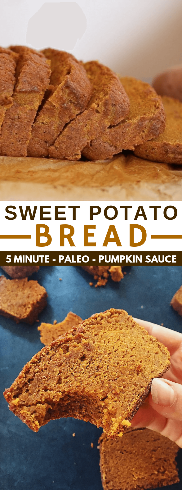 SWEET POTATO PUMPKIN SPICE PALEO BREAD #diet #glutenfree
