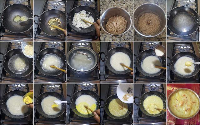 images of Aval Kesari Recipe / Poha Kesari / Flattened Rice Kesari / Poha Sheera Recipe / Avalakki Kesari Bath Recipe / Easy Kesari Recipe - Easy Gokulashtami Recipe
