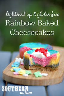 Healthy Rainbow Baked Cheesecake Recipe