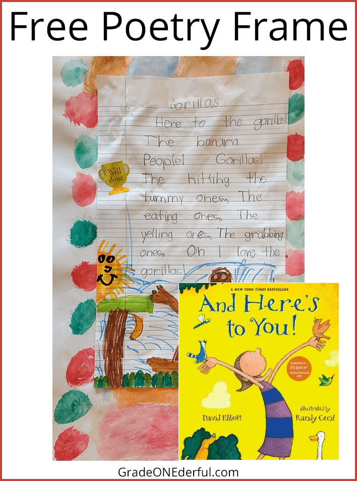 "Nature poems based on the book ""And Here's to You!""  I've included a free poetry frame for your class to use."